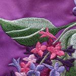 Вышивка цветов на подоле
