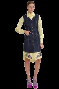 Вышивка на подоле платья