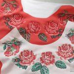 Вышивка цветов крестом в стиле винтаж