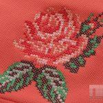 Винтажная вышивка розы крестиком