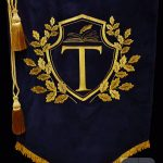 Нанесение букв на знамя