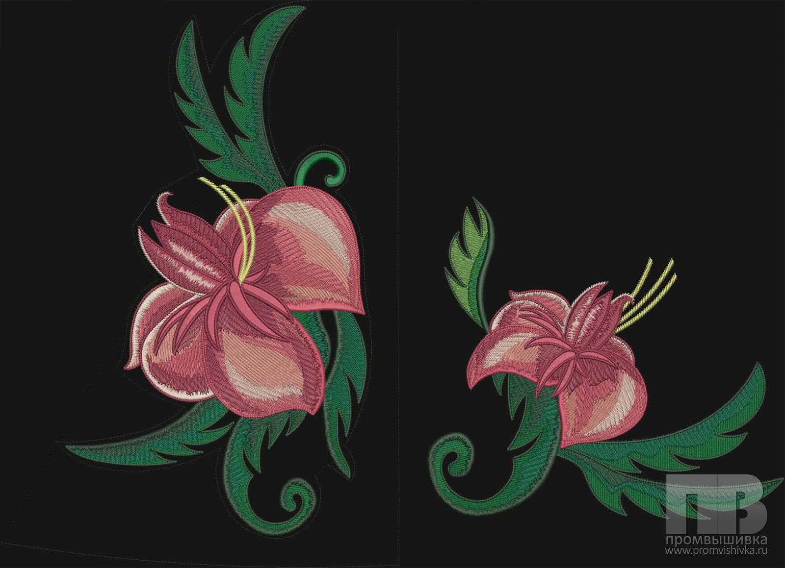 Дизайн цветов для машинной вышивки