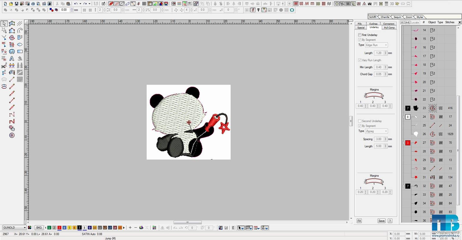 Как создать дизайн машинной вышивки из картинки