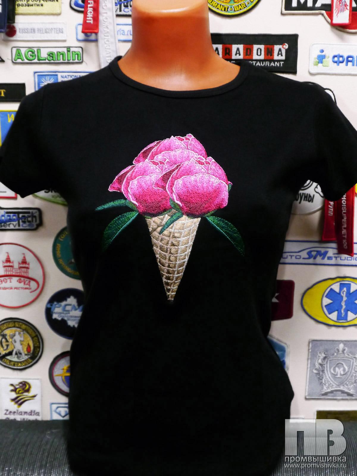 Заказать вышивку на футболку 5