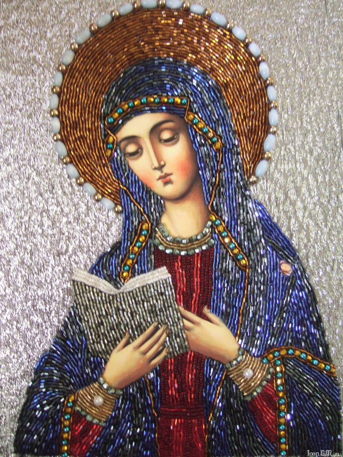 Вышивка бисером калужская божья матерь