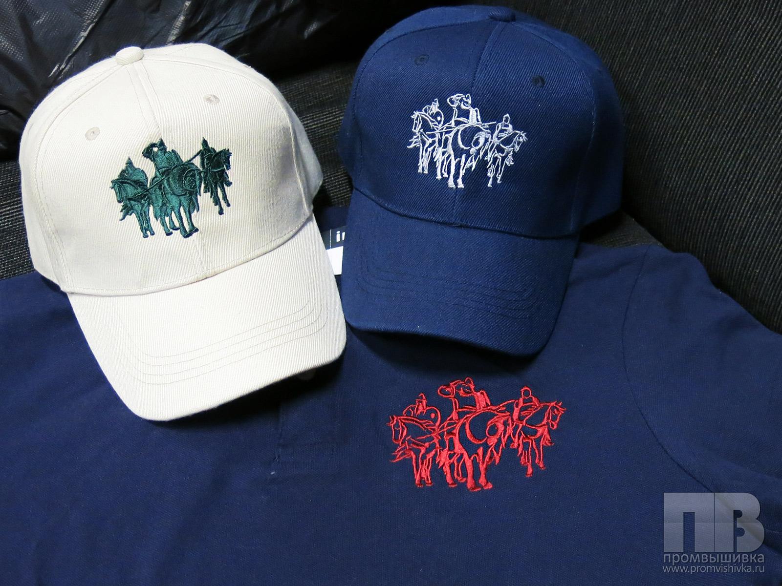 Вышивка на кепках 12