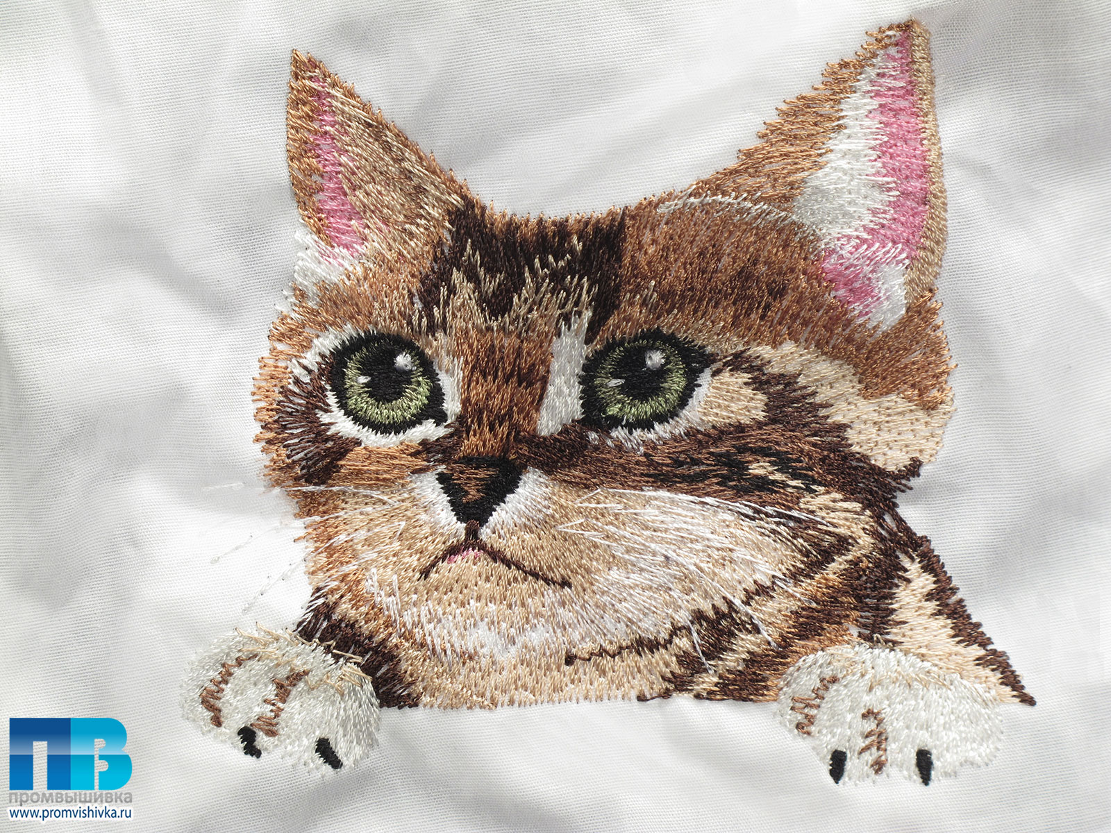 Рубашка вышивка кот
