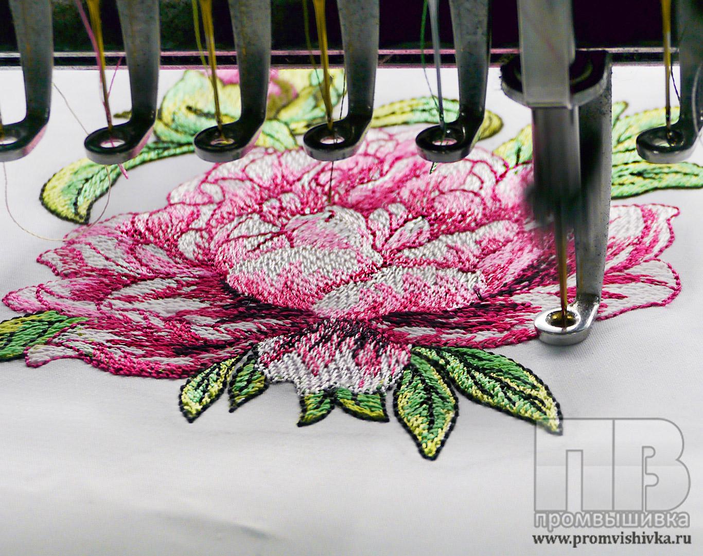 Цветы компьютерной вышивкой