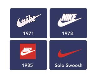 История логотипа Найк