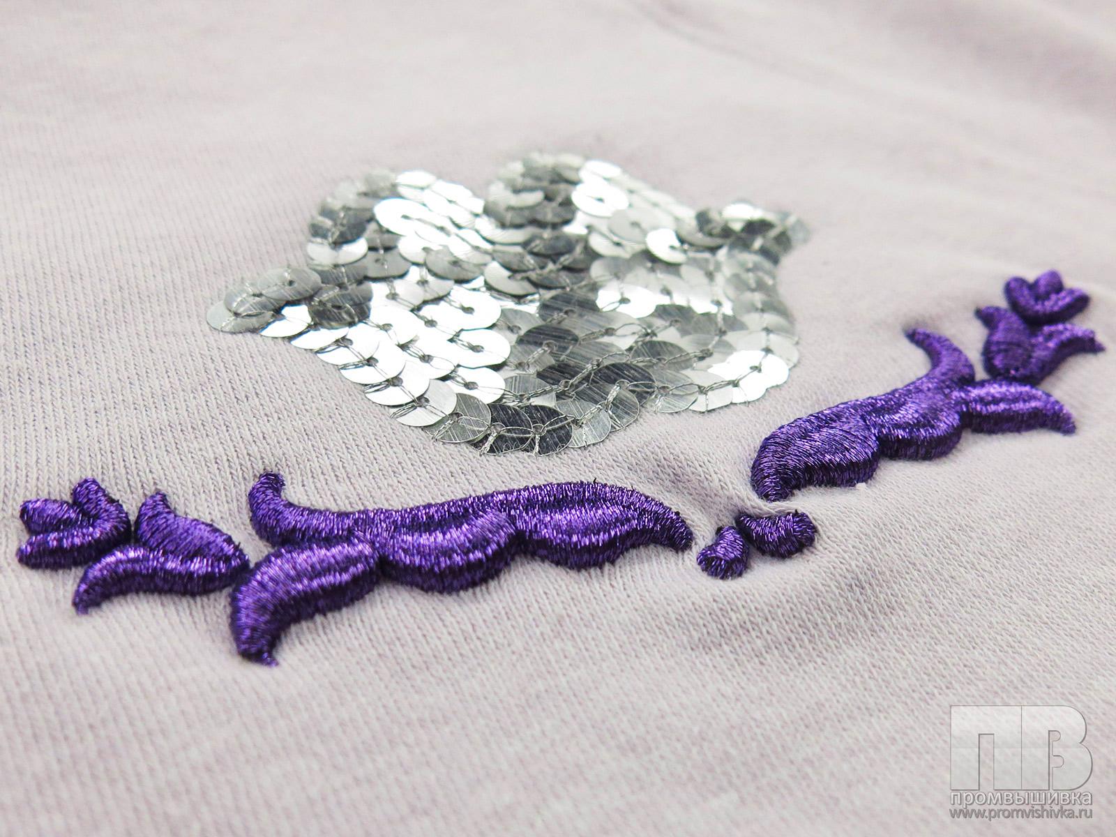 Способы вышивки пайетками 68
