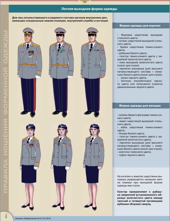 Одежда по уставу полиции 104