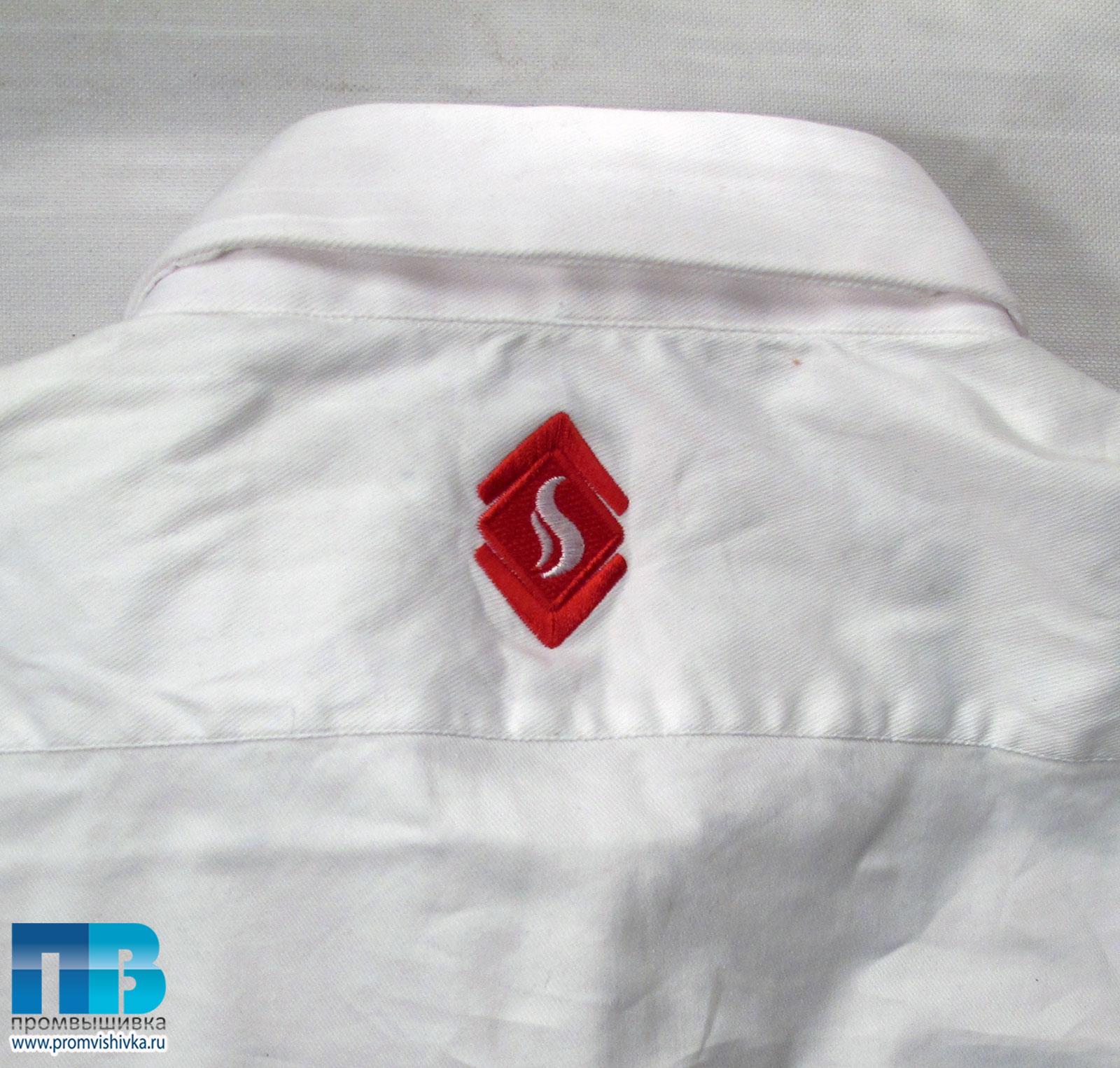 Вышивка логотипа на рубашках
