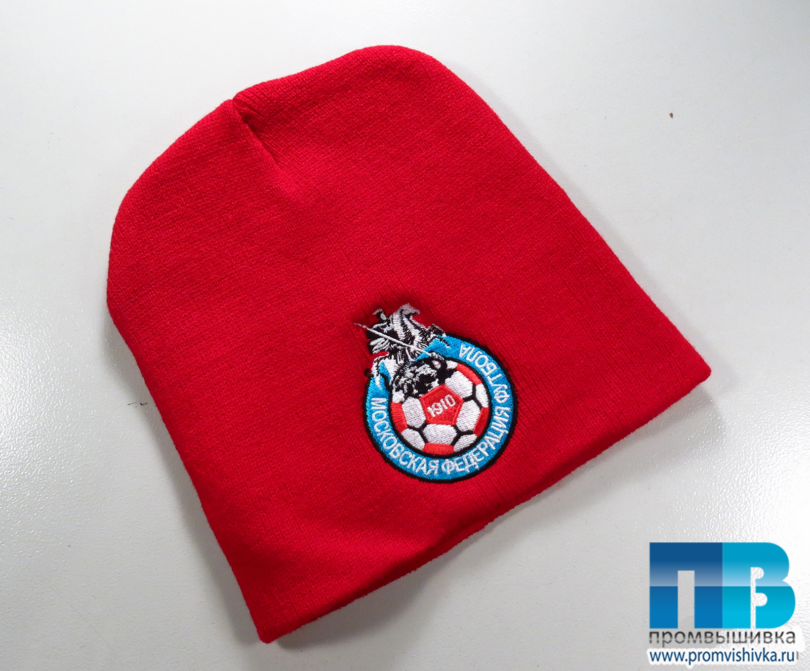 73a95b67faa0 Вышивка на шапках символики для Московской федерации футбола