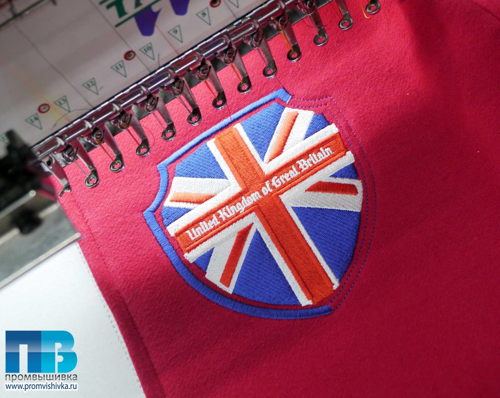 Английский флаг вышивка 78