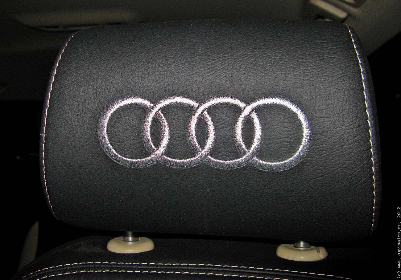 Вышивка на подголовниках в авто