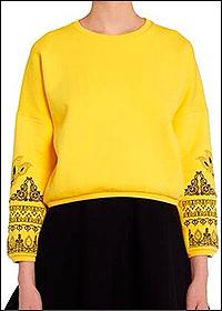 Вышивка на одежде жёлтого цвета