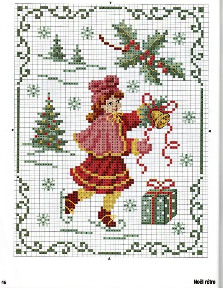 Вышивка схема новый год рождество