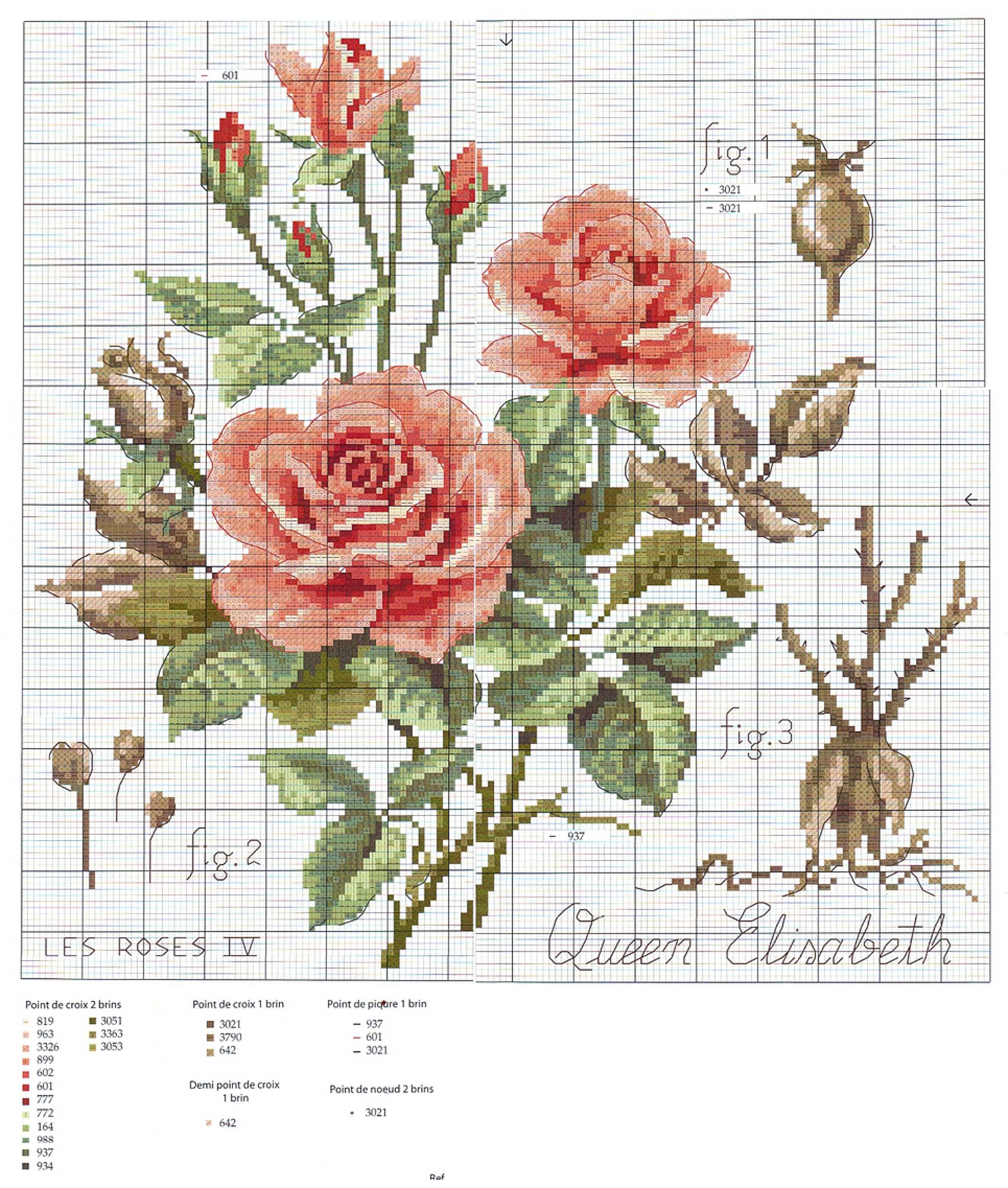 Схема вышивки летняя роза