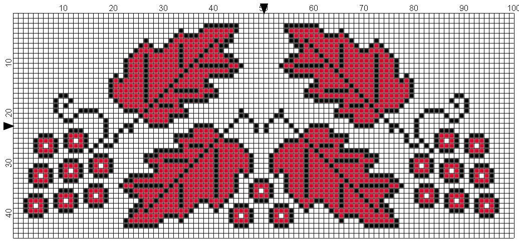 Вышивка крестиком рисунки рушников