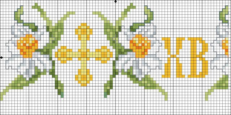 Схема вышивки крестом для