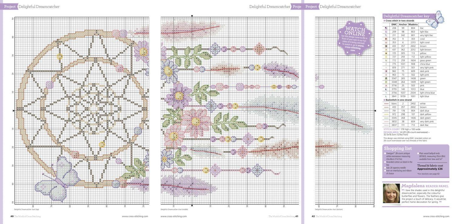 схема вышивки ловец снов
