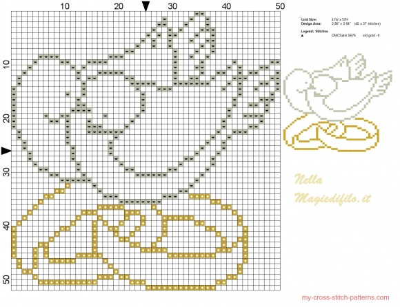 Схема вышивки крестом к