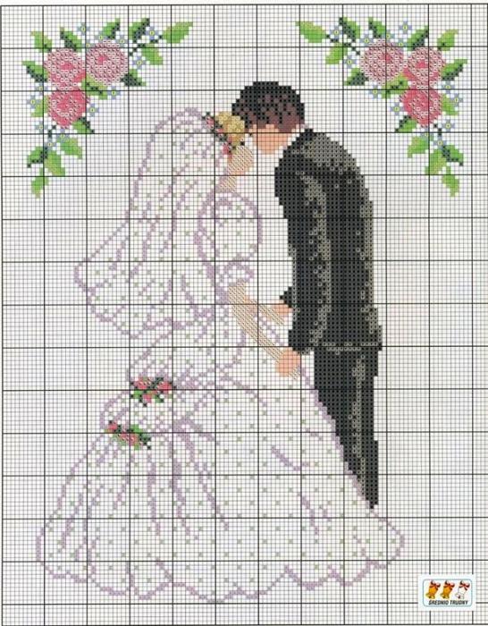 Скачать схему для вышивка свадьба