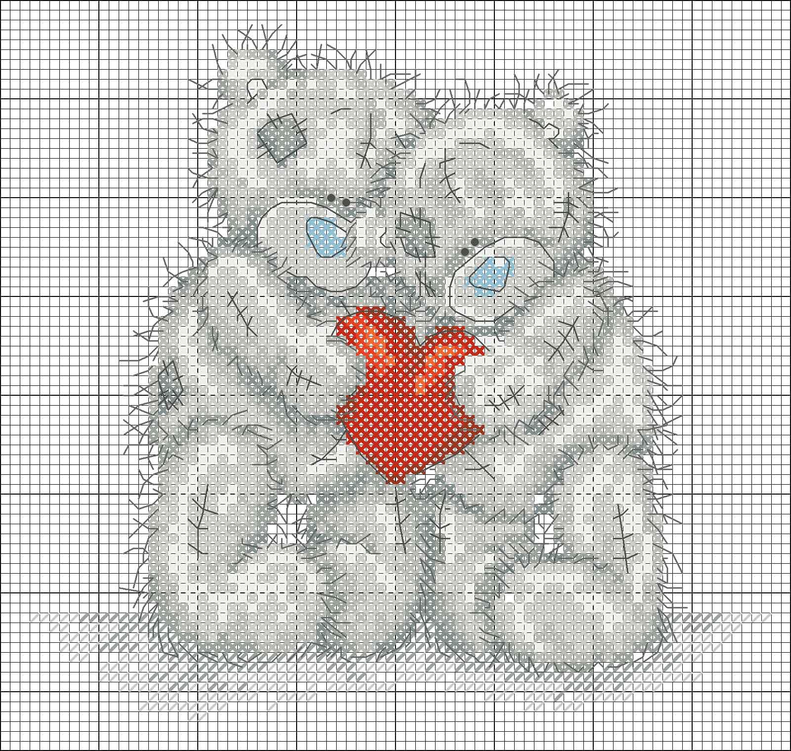 Схемы вышивки крестом мишек тедди фото