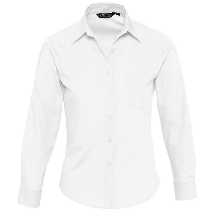 Рубашка женская с вышивкой на воротнике